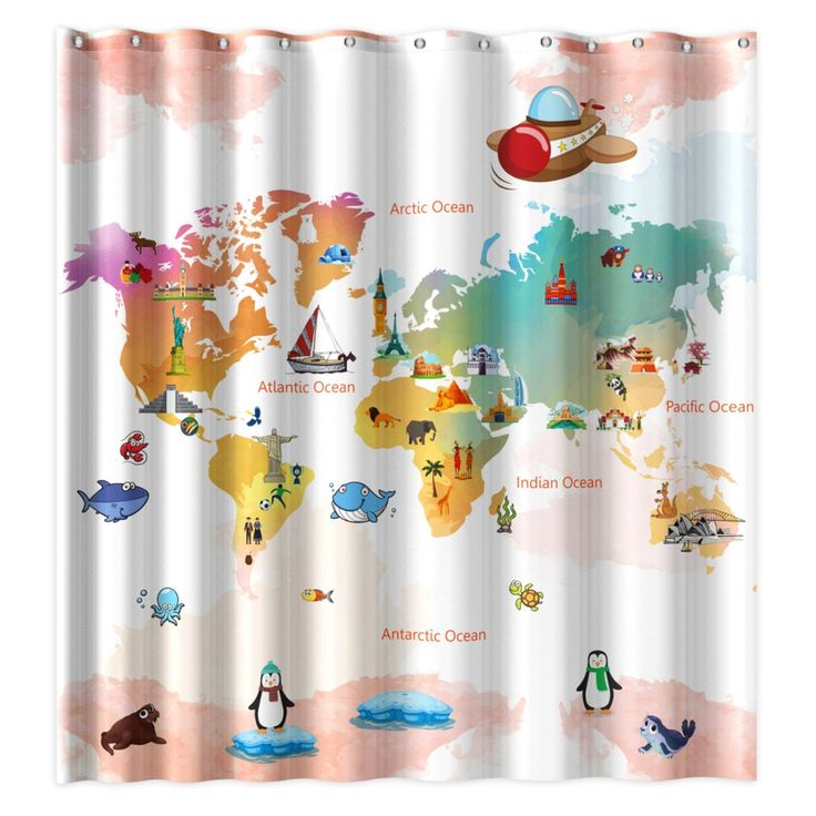 21 best beautiful shower curtain images on Pinterest  Animal