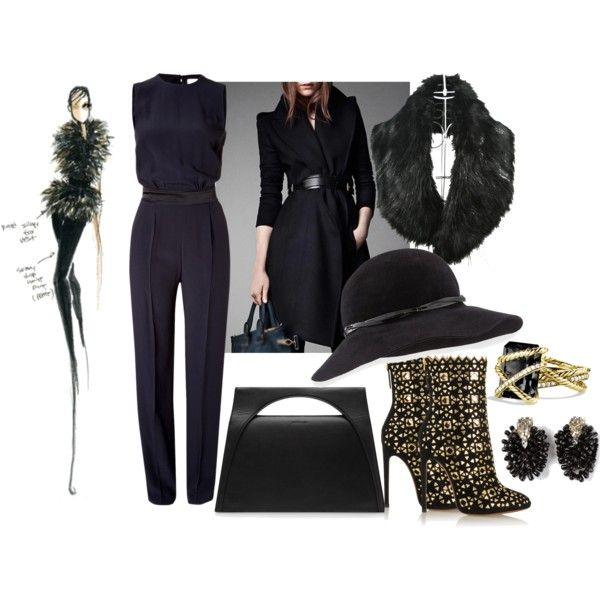Jumpsuit by ildikos on Polyvore featuring Victoria, Victoria Beckham, Alaïa, J.W. Anderson, David Yurman, Dsquared2, Eric Javits and Jason Wu