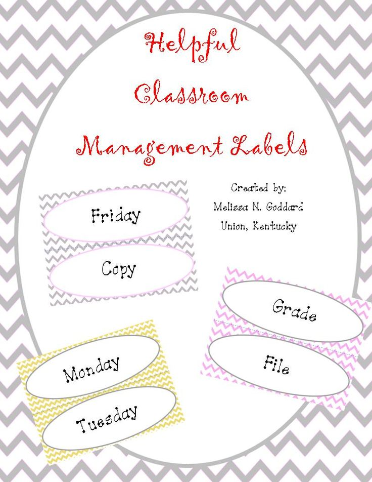 Monday-Friday Grade, Copy, File   http://www.teacherspayteachers.com/Product/Classroom-Managment-Labels-Mon-Fri-Copy-File-Grade-858185