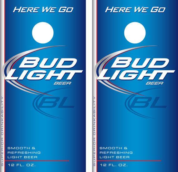Bud Light Beer Label Cornhole Decal Wrap Bud Light Beer