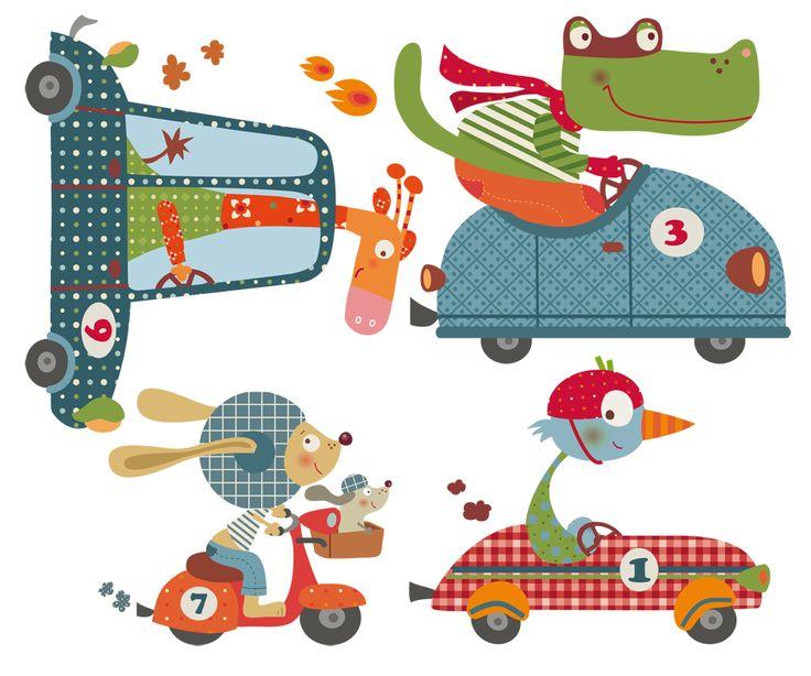 vinilos infantiles decohappy - - HAPPY CARS