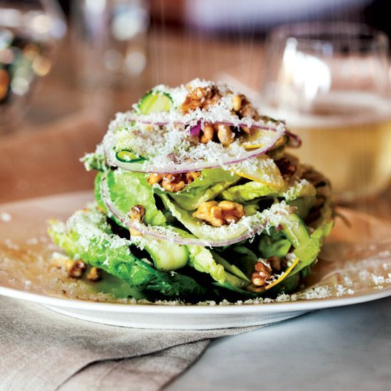 Little Gem Salad with Lemon Vinaigrette   Nancy Silverton's lovely salad, adapted from her Mozza Cookbook, features Little Gem lettuce, a smaller, sweeter variety of romaine. If you can't find it, use hearts of romaine instead.