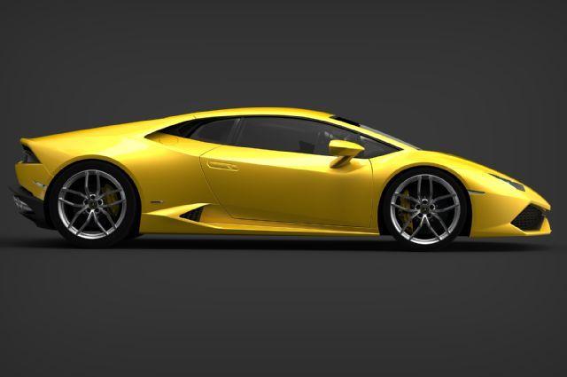 2015 Lamborghini Huracan yellow side