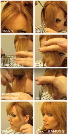 Cut Your Own Bangs Tutorials! - Page 6 of 7 - Just For Girls