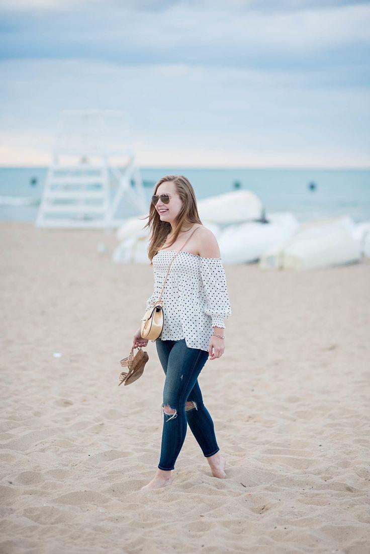 Летние джинсы Пляж Outfit Хлоя Дрю