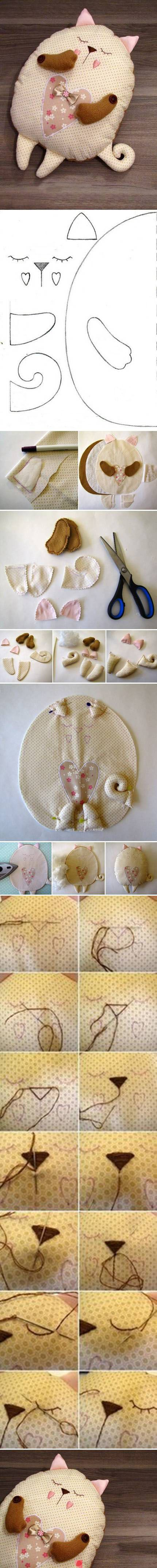DIY - Tutoriel: ❤️*❤️ Pattern. Doudou chat