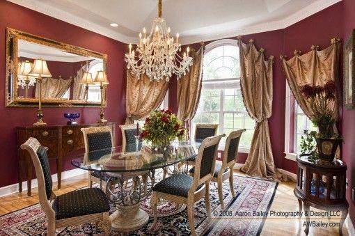 red and gold dining room | Red and gold dining room | Decorating Ideas | Pinterest