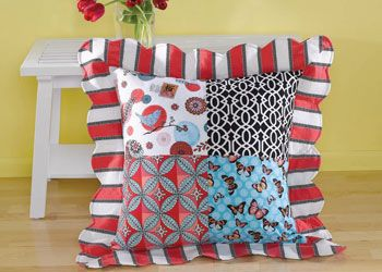 The fabulous floor pillow, just one of the free patterns in our sewing pillows free eBook.