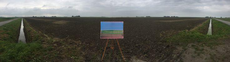 view landscape photography waddenzee kwelder horizon abstract painting schilderij op locatie