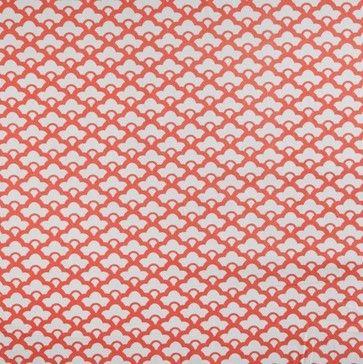 Tangerine Lotus Fabric - asian - upholstery fabric - Caitlin Wilson Textiles