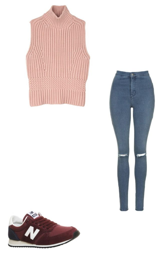 """Untitled #38"" by marssysl on Polyvore featuring Topshop, New Balance and Diesel Black Gold"