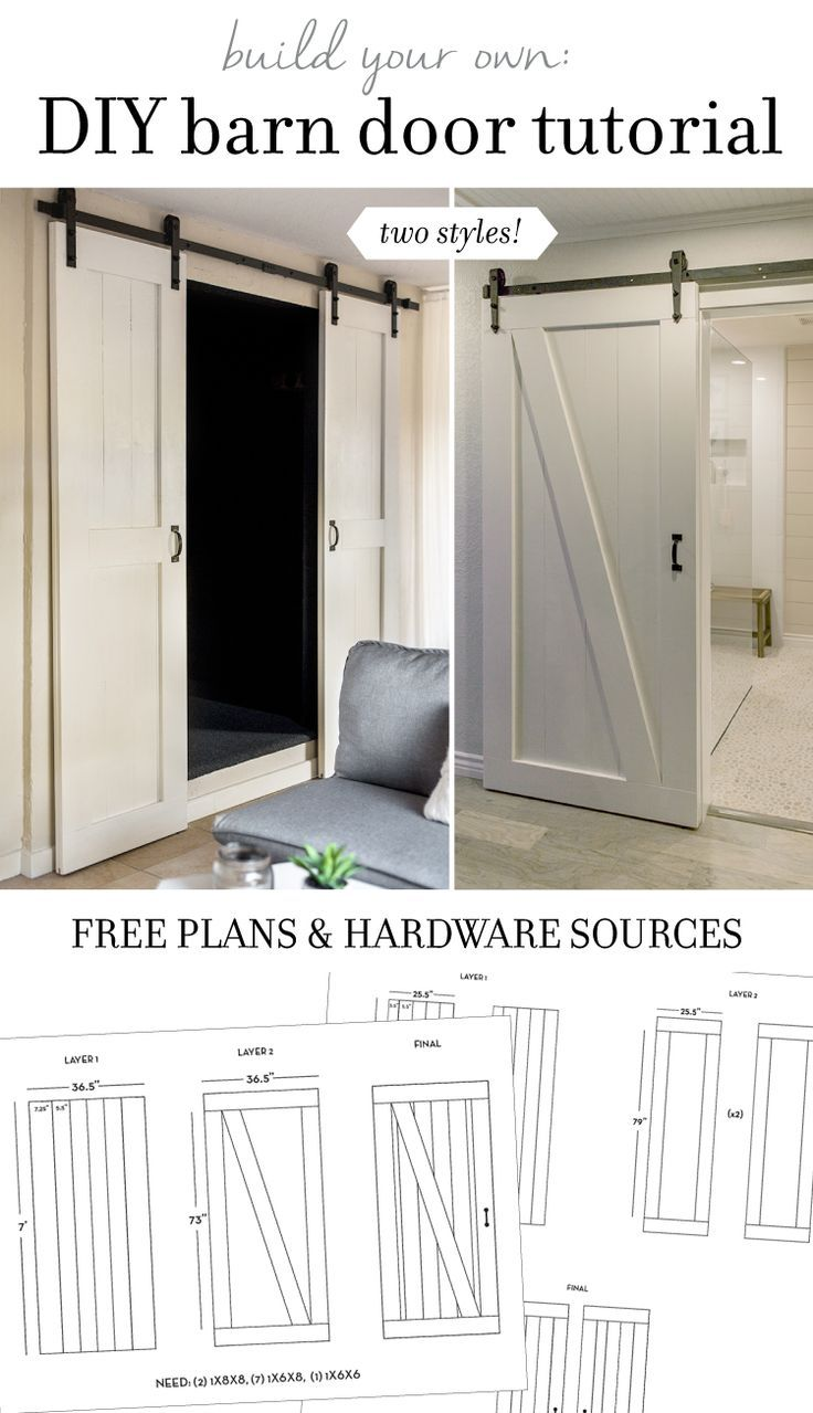 DIY Barn Door Plans & Tutorial | Jenna Sue Design Blog