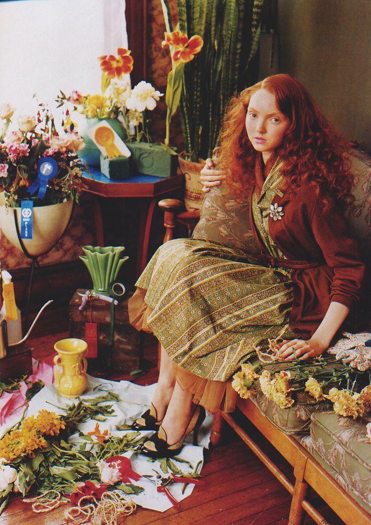 """Senior Moment""   Models: Lily Cole & Gemma Ward, Photographer: Tim Walker, Vogue US, August 2004"