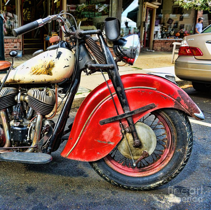motorcycles+as+art+ | Vintage Indian Motorcycle - Live To Ride Photograph