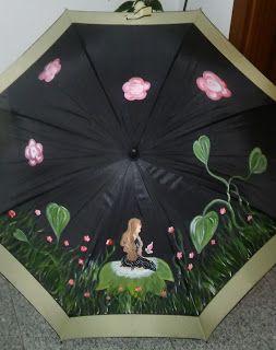 53 best paraguas images on pinterest umbrellas paint - Abanicos pintados a mano originales ...