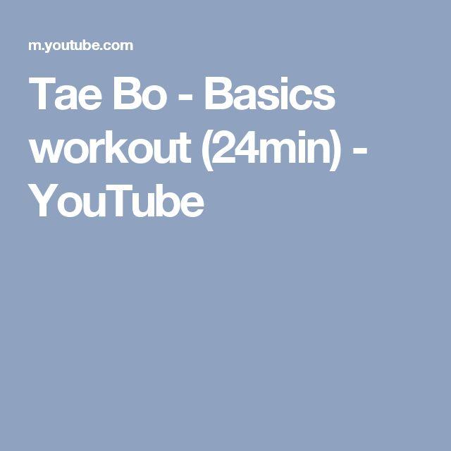 Tae Bo - Basics workout (24min) - YouTube