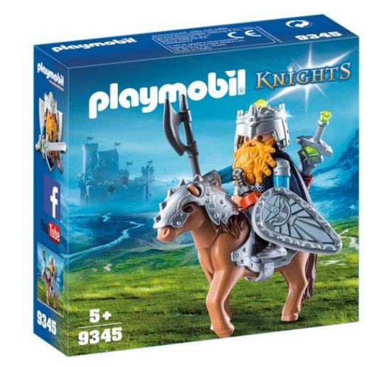 PLAYMOBIL 9345 ENANO Y PONY CON ARMADURA