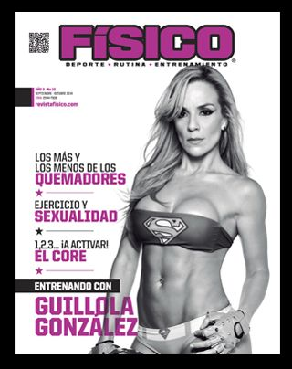 Guillola Gonzalez nuestras entrenadora, en portada mas en revista fisico.com