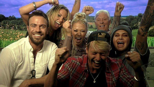 Finalists: As the live final kicked off on Friday night, remaining housemates Amelia Lily, Chad Johnson, Derek Acorah, Jemma Lucy, Sam Thompson and Sarah Harding battled it out to scoop the CBB crown- along with the winning £50k prize to give to a charity of their choice