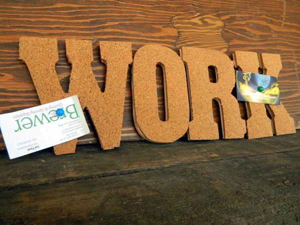 Cork Board Letters