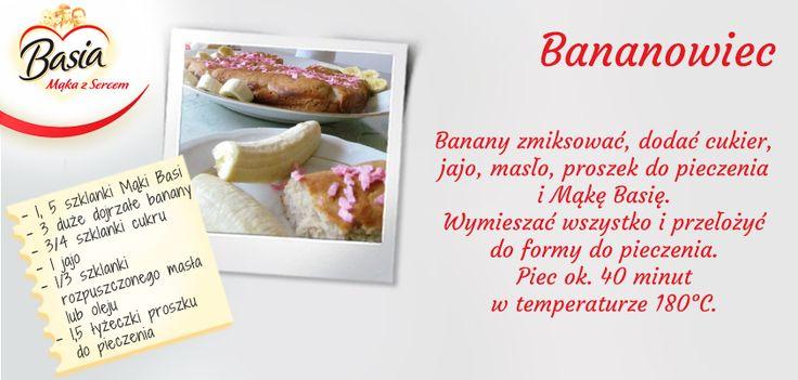 Bananowiec www.mojabasia.pl/przepisy.html