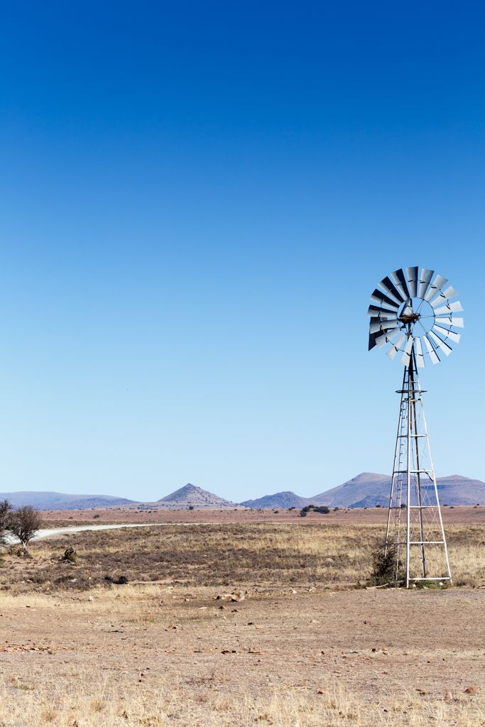 Windmill On The Road - Cradock Landscape Cradock is a town in the Eastern Cape Province of South Africa, in the upper valley of the Great Fish River, 250 kilometres by road northeast of Port Elizabeth.