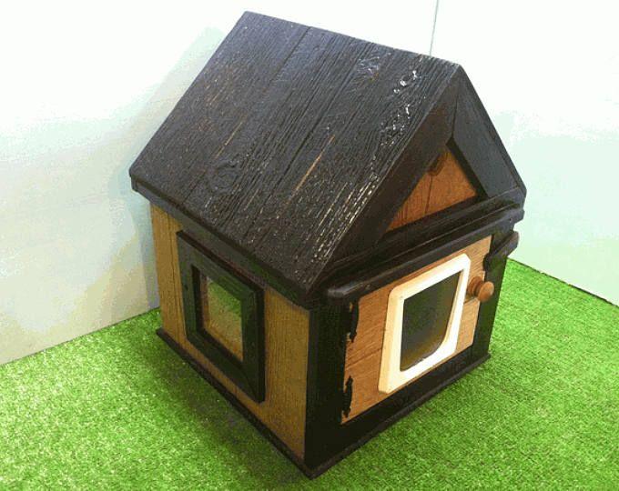Heated Cat Pod House 2 Doors Ships Next Bus Day Etsy Heated Outdoor Cat House Outdoor Cat House Outdoor Cats