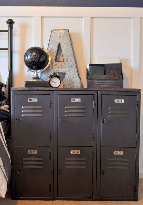 vintage locker rehab diy rehab lockersinthehome - Decorate Boys Bedroom