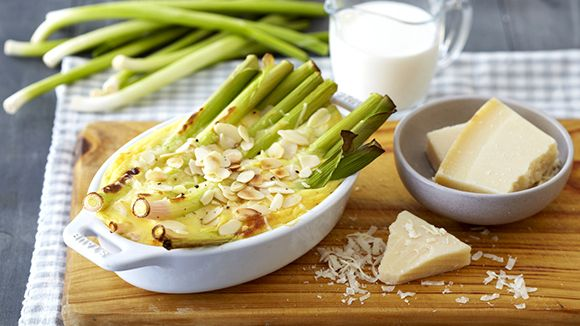 Parmesan cheese and flaked almonds give extra flavour to this delicious vegetable dish.
