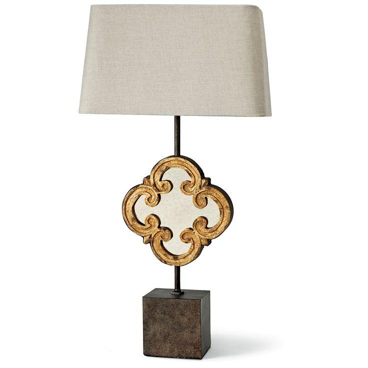 Regina Andrew Motif Mirror Table Lamp   44 7624