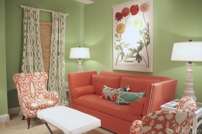 147 best images about paint it green on pinterest green for Coral walls living room