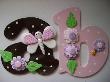Letras decoradas para bebés - Imagui