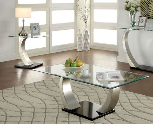 2 PC Furniture of America Roxo Collection Coffee Table & End Table Set CM4728