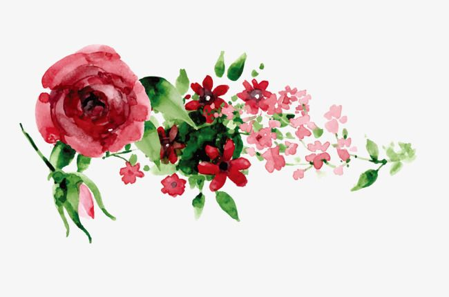 Hand Painted Red Flowers Red Flowers Vector Diagram Background Decoration Png Transparent Clipart Image And Psd File For Free Download Background Decoration Red Flowers Flowers