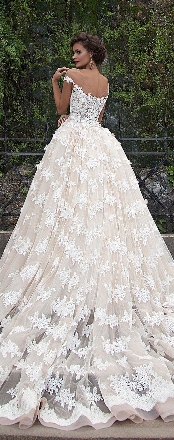 Wedding dress idea; Featured Dress: Milla Nova. Follow @jewelbyrd843 for more!
