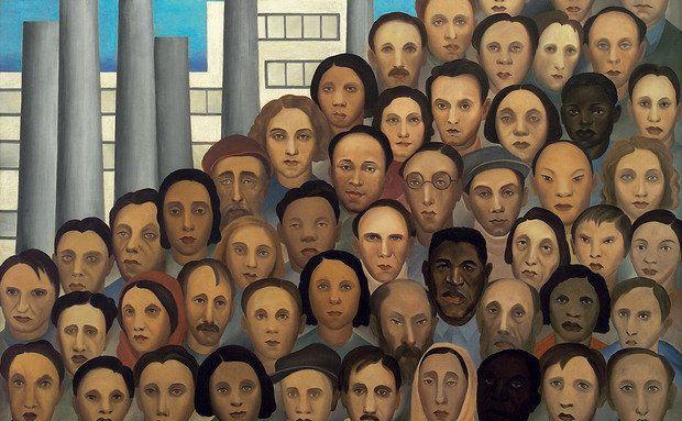Operários (1933), de Tarsila do Amaral. Obra incrível!