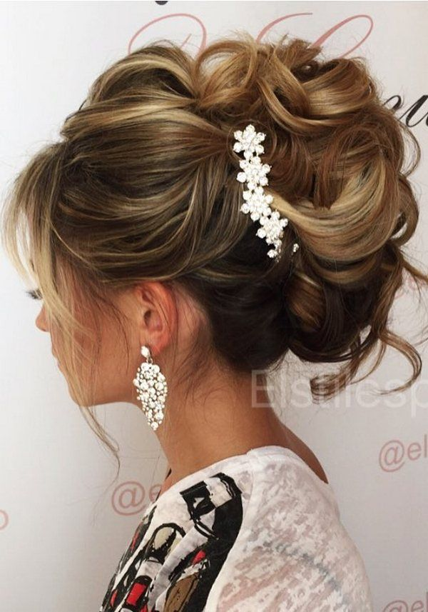 Half-updo, Braids, Chongos Updo Wedding Hairstyles / http://www.deerpearlflowers.com/wedding-hair-updos-for-elegant-brides/4/