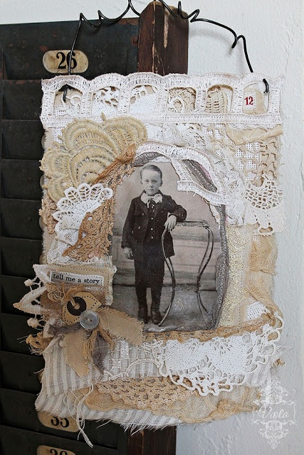Viola: fabric collage