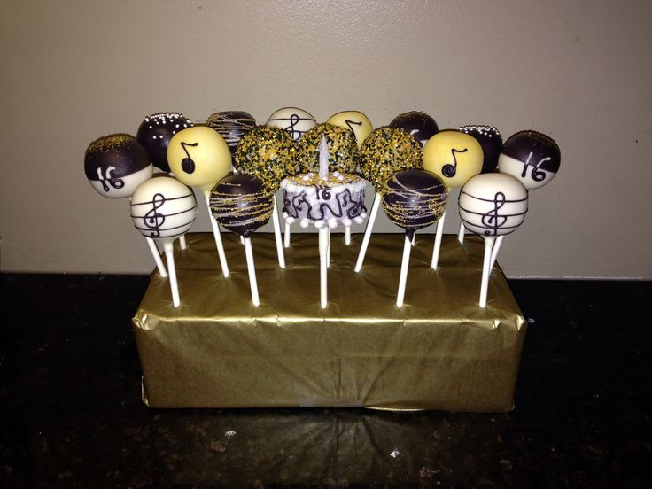 Black, White and Gold Music-Themed Pops!