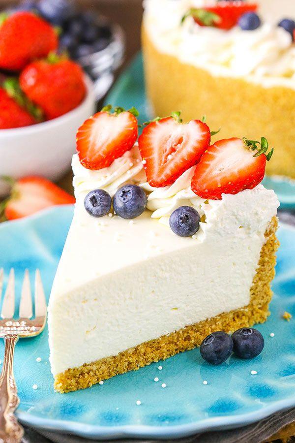 The Perfect No Bake Cheesecake Recipe No Fuss Easy Cheesecake Recipe Cheesecake Recipes Best No Bake Cheesecake Easy Cheesecake