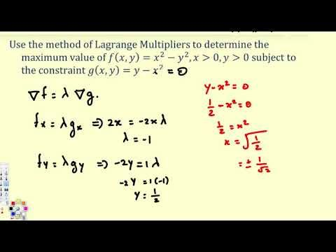 Lagrange Multipliers - Part 1 - Vector Calculus