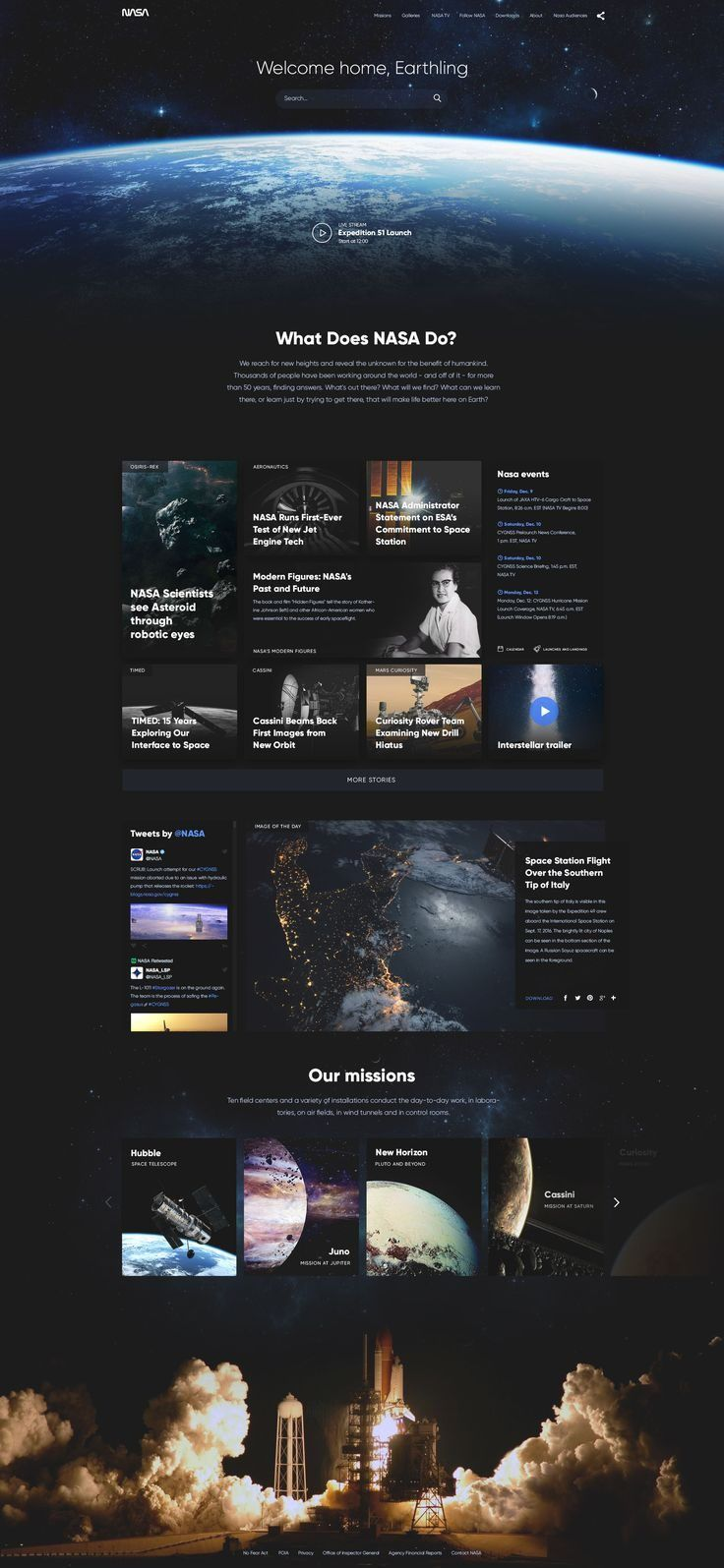 NASA website concept by Barbara Morrigan
