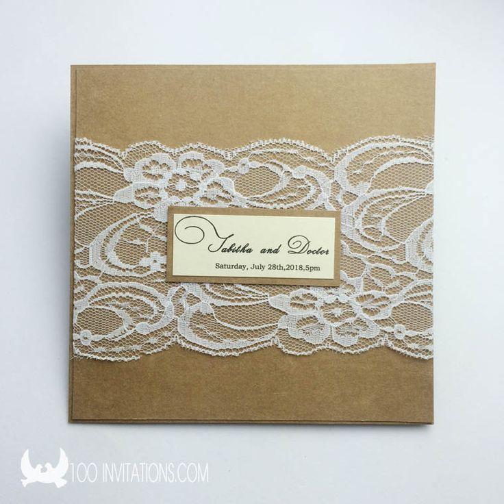 37 best lace wedding invitations images on Pinterest   Laser cut ...