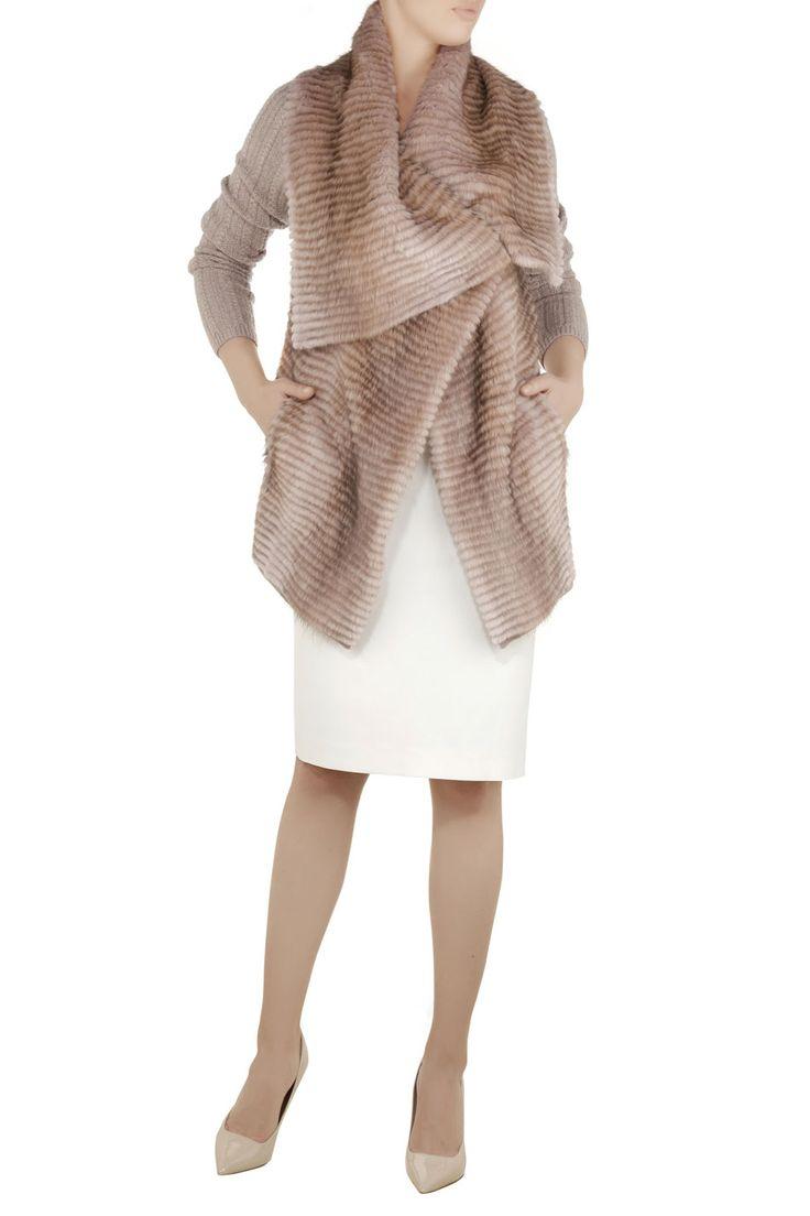 Ekskluzywna kurtka z futra piżmaka