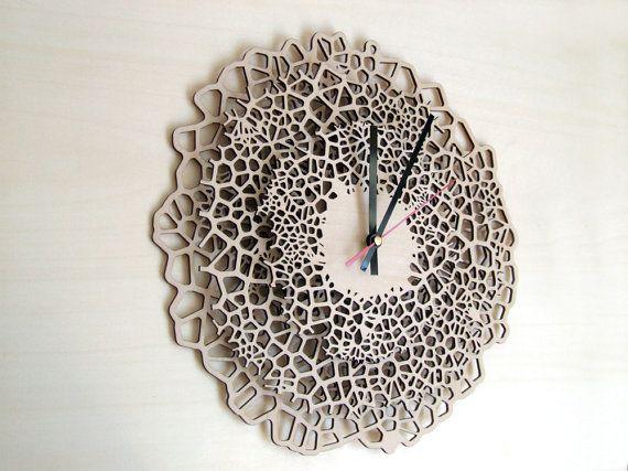 Large wooden wall clock - Giraffe