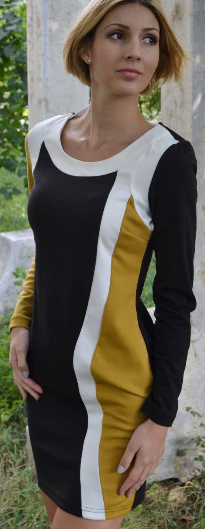 Rochie scurta mulata pe corp, perfecta pentru club sau intalniri deosebite. Predominant neagra cu imprimeuri de mustar si alb. - See more at: http://www.pufishop.com/cart-3/femei/rochie-kirra/#sthash.YOjLl5lx.dpuf