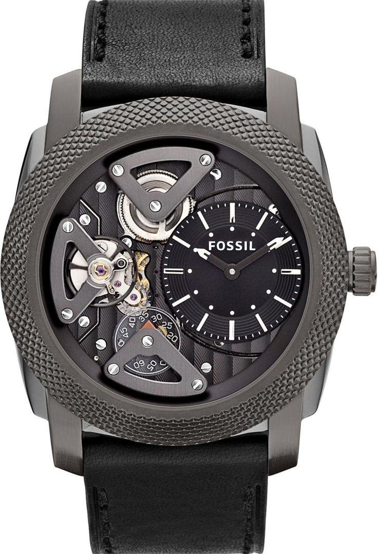 Fossil Watches, Men's Machine Twist Leather Watch Grey #ME1129