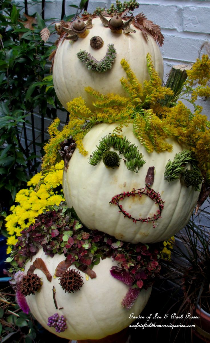 Tipsy Punkin' Heads http://ourfairfieldhomeandgarden.com/getting-into-the-spirit-of-halloween-insert-spooky-music-here/