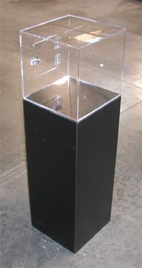 Floor Standing Donation Box with Pedestal Base
