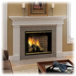 in ventfree gas fireplace systems the exhaust is ventless gas fireplaces and stoves - Ventless Gas Fireplaces